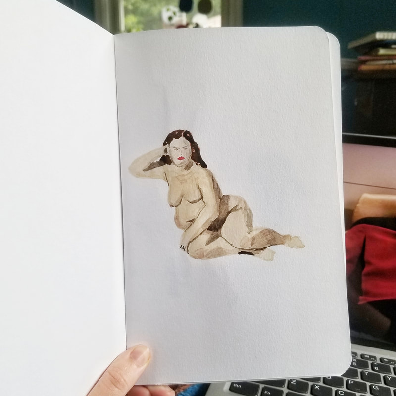 watercolor figure study phoebe guider phguider